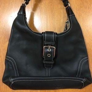 Coach Black Leather Bag